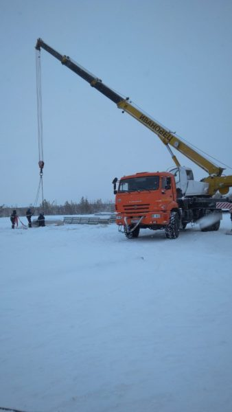 Фото услуг автокрана Ивановец для монтажа модульных строений
