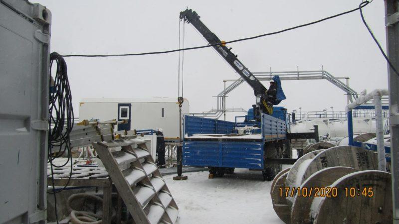 Фото процесса монтажа конструкций на объекте